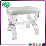 Fashion Acrylic Stool Soft Cushion Plexiglass Stool With U-Shape Stool Legs