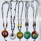 Round stone pendants necklaces on best jewelry websites