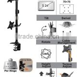 TWIN Desk LCD monitor mount arm