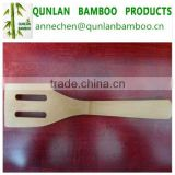 Natural mini bamboo scoop meal rice spoon with two holes