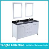4 Foot White Bathroom Vanity Black Granite Top