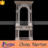antique marble outdoor fireplace for garden decoration NTMF-F511X