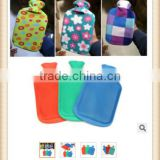 2015 LARGE THICK Rubber HOT WATER BOTTLE Bag WARM Relaxing Heat Cold Therapy w/