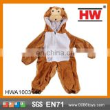 Hot sale Animal hooded jumpsuits cartoon costume