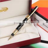 Promotional crocodile gold plating thin fountain pen for gift