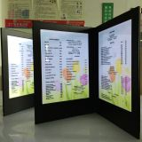 customize menu folder M8511 for A4 size paper, restaurant wireless electronic menu light up menu for restaurant