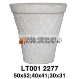 Vietnam Pattern Stylish White Painted Pottery For Manufacturer