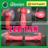 New brand mini fan with led light glovion mini electric hand fan handheld programmable fan