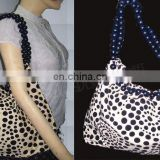 COTTON CANVAS FLOKING PRINTED BAG