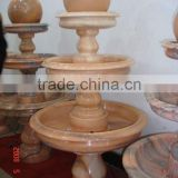 Orange Marble Ball Fountain