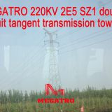 MEGATRO 220KV 2E5 SZ1 double circuit tangent transmission tower