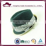 China Manufacturer Short Brim Fedora Hat, Custom Fedora Hat