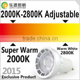 2015 newest hot selling color changed super warm white <b>6w</b> 0-100% dimming no flicker cob led downlight