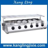Gas Fuel Smockless and environmental 6 head stainless steel Barbecue Machine