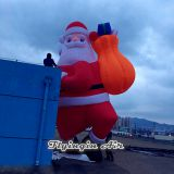 10m Height Building Outdoor Decorative Inflatable Santa Claus for Christmas Supplies