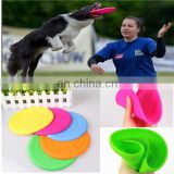 2014 Super Soft Colorful Rubber Frisbee Eco-friendly Material Training Dog toy