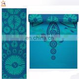 5mm 1600g gym texting TPE environmental recycle rubber custom prints special design best yoga mat for women