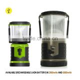Emergency work light led lantern battery powered by rechargeable lithium battery