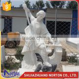 Western custom church character large marble angel statues wholesale NTMS-R508A