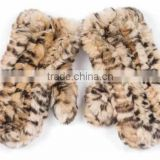 YR568 Fashion Winter New Arrive Rex Rabbit Fur Knitted Fingerless Gloves