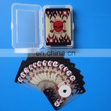 Hot sale transparent plastic playing cards