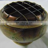 ANTIQUE POLISHED CHARCOAL INCENSE BURNER