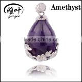 Natural Semi <b>precious</b> <b>stone</b> Drop Shape pendant