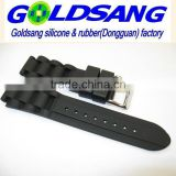 Eco-friendly silicone men's watchband /watch strap