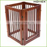 Wood Strong Pet Gate Portable Dog Fence Homex_BSCI Factory