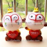 PVC customized piggy bank money box, plastic bank money saving boxes toy, plastic oem piggy bank money saving box