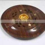 WOODEN INCENSE CONE HOLDER PLATE