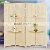 Wood partition decorative paper rope folding screen room divider partition custom folding partition office wall GVSD010
