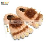 Aipinqi CPRB01 customized padded Hobbit slipper plush