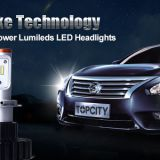 High quality led headlights kit H4 hi/lo beam LED headlight EMC solved
