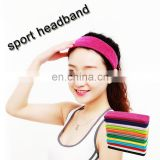 breathable comfortable hair band cheap sport sweatband colorful athletic headband