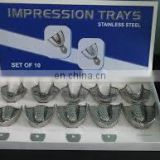 Perforated Stainless Steel Impression Trays/High quality Dental Impression Tray Set(PayPal Accept