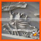 Hand Carved Nature Stone Flower Reliefs Sculpture