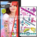 Colorful kid Temporary Princess Tattoo safe non toxic