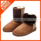 women's genuine leather half snow boots wholesales