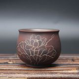 Nixing Lotus Flower Tea Cup Handmade Tea Cup Set Clay Tea Cup