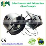 SUNNY FAN 14'' 15W small size wall mounted Solar Panel Powered Air Ventilation Attic Gable Fan