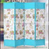 Wooden screen door Chinese painted folding mosquito door folding shower screen door ornaments