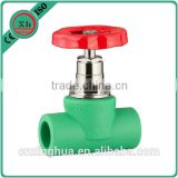 2016 Newest competitive price ppr stop valve with brass for stopping water flow , ppr and brass stop valve