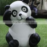 Life Size Cute Cartoon Fiberglass Panda Statues for park