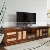 Sideboard tv JAPAN with waterhyacinth door brown teak wood furniture