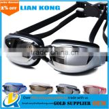 2017 high qiality swimming glasses Waterproof goggles and Pingguang goggles