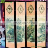Home furniture part cheap bamboo folding screen room divider Custom Design Restaurant Folding Screen Room Divider GVSD028