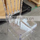China manufacturer wedding acrylic transparent napoleon chairs with soft cushion