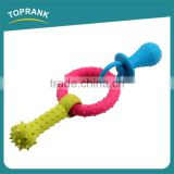 Hot selling multi color lucky pet dog toy set pacifier ring TPR dog toys