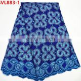 African design swiss cotton fabric high quality nigerian voile lace cotton fabric SVL883